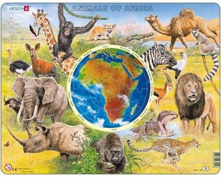 Larsen puzzle Zvieratá Afriky (slovenská verzia)