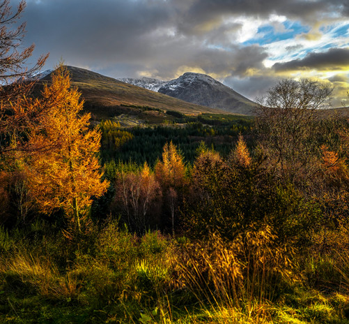 Ben Nevis from the road to Aonach Mor