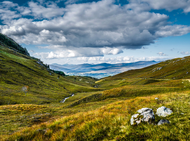 Looking towards Roy Bridge from the Lairig Pass