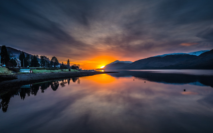 Fort William Sunset, looking west
