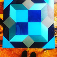 """Baton Rouge"" _Acrylic on canvas _20 x 2"