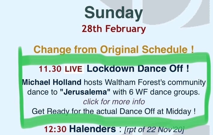 Waltham Forest Dance Space - February 2021