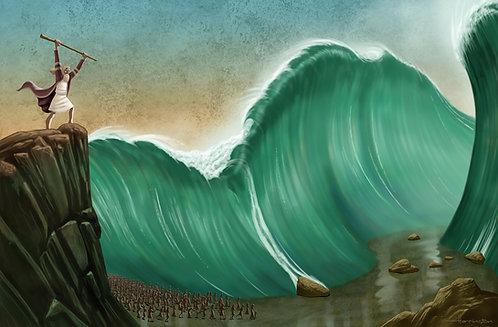 Moses at the Red Sea 11x17 print