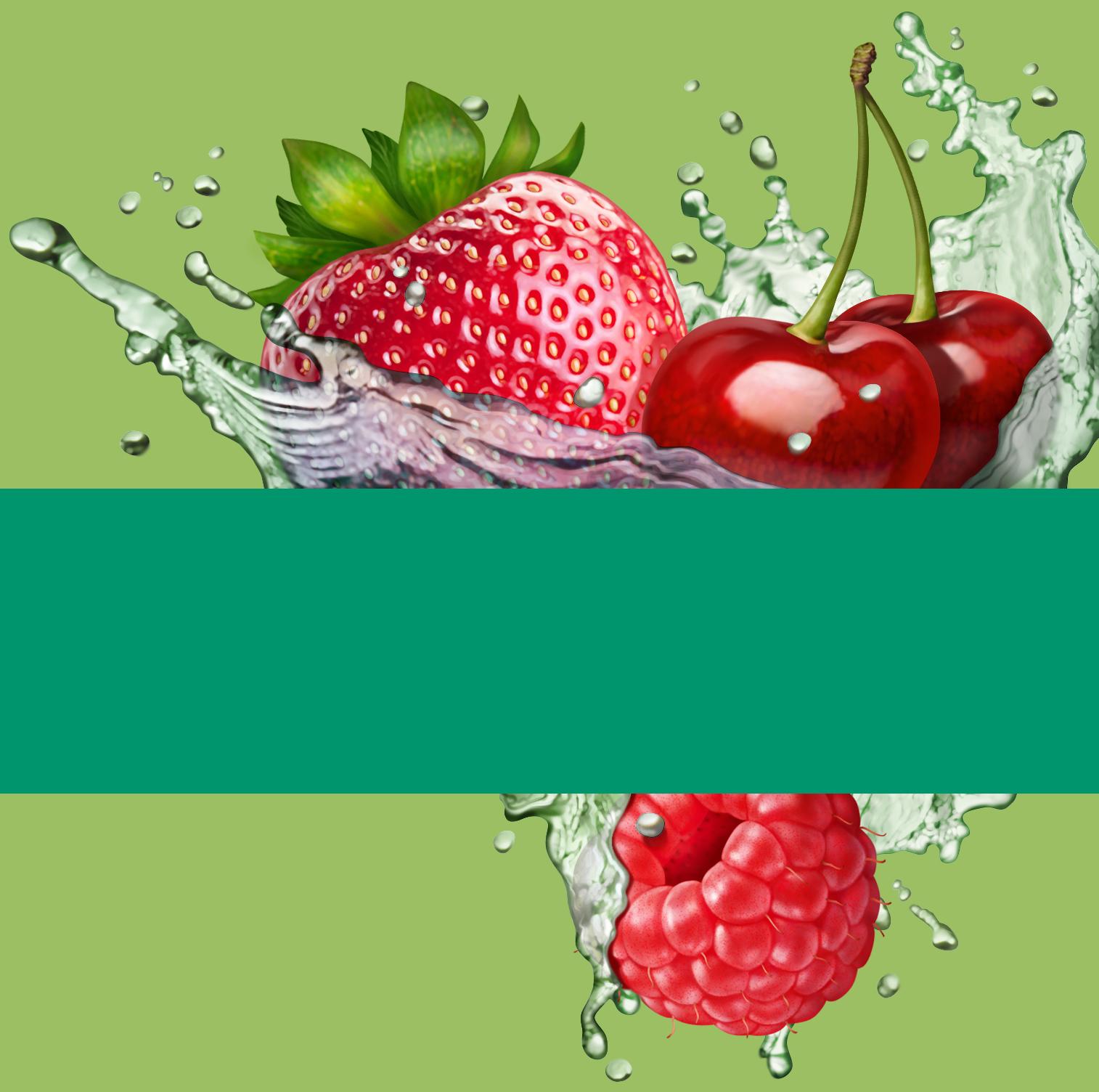 Raspberry-Strawberry-Cherry