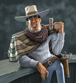 slim shooter cowboy illus 2