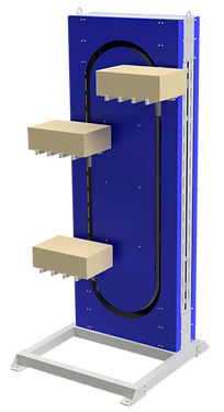 Elevador vertical contínuo de produtos