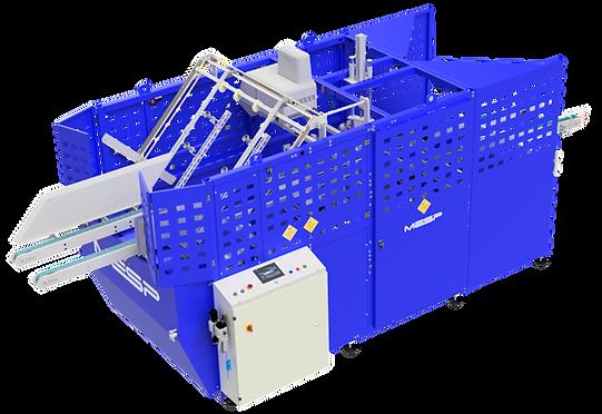 Máquina montadora de caixas com tampa incorporada e 2 abas externas na tampa - Modelo V1