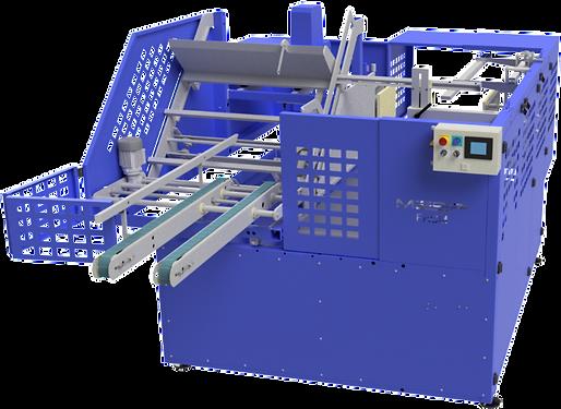 Máquina formadora automática para caixas maleta por grampo