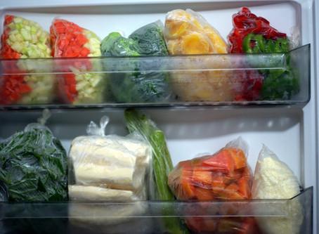 Verduras podem ir ao freezer?