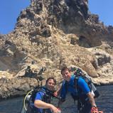 Dirck & Chris scuba diving Ibiza