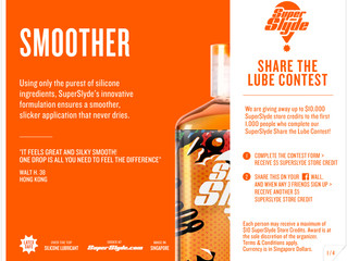 SuperSlyde S$10,000 Share The Lube Contest!