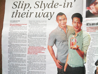 Slip, Slyde – in our way! Thank you The New Paper on Sunday!