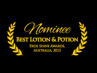 SuperSlyde has just been nominated for 'Best Lotion & Potion' at Australia Eros Shine award 2013