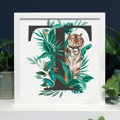 T for Tiger Fine Art Print