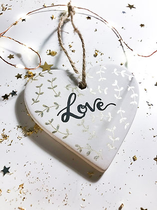 Personalised Heart Ceramic Decoration