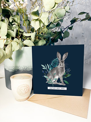 'Another Grey Hare!' Greeting Card