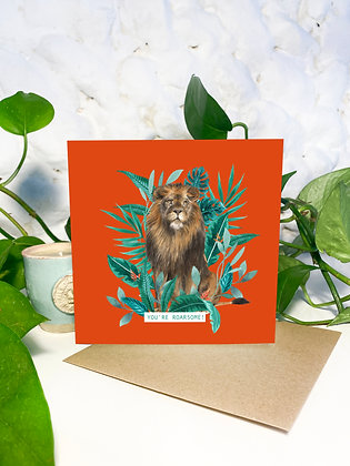 'You're Roarsome!' Greeting Card