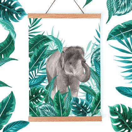 Jungle Elephant Fine Art Print