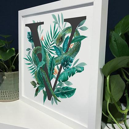 V for Viper Fine Art Print