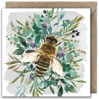 Botanical Bee Greeting Card