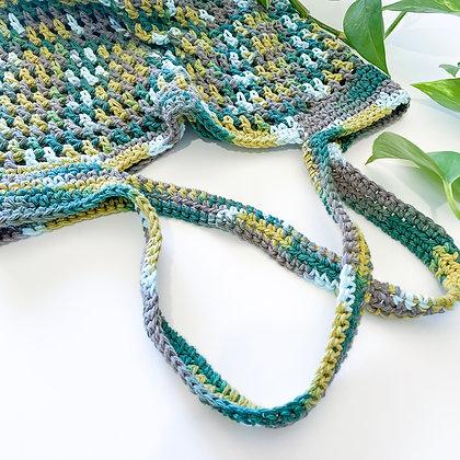 Crochet Boho Tote Bag - Verde