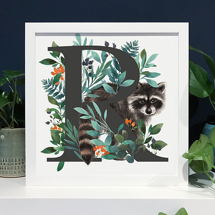 R for Raccoon Fine Art Print