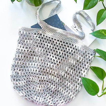 Crochet Boho Tote Bag - Greige