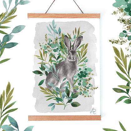 Botanical Hare Fine Art Print