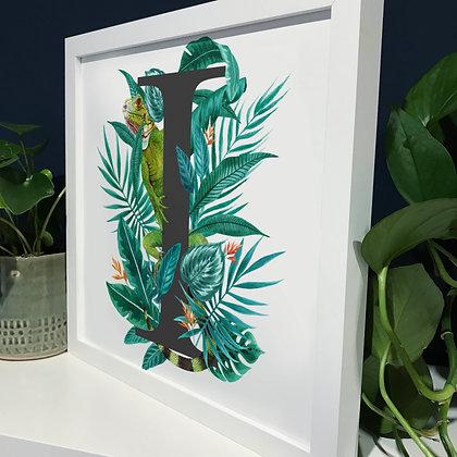 I for Iguana Fine Art Print