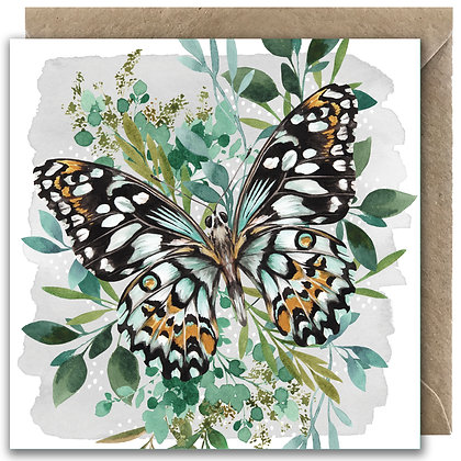 Botanical Butterfly Greeting Card