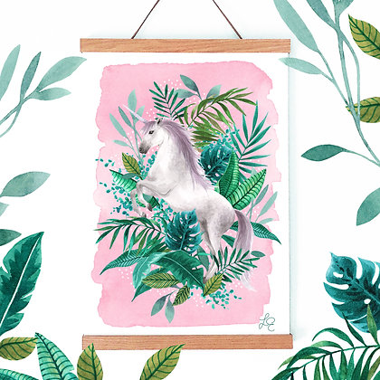Tropical Unicorn Fine Art Print