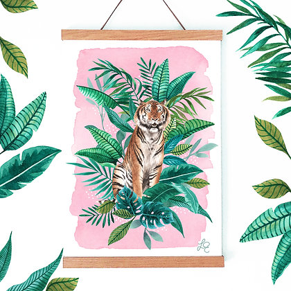 Tropical Tiger Fine Art Print
