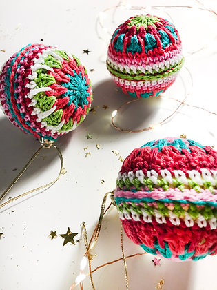 Crochet Baubles - 3 Pack