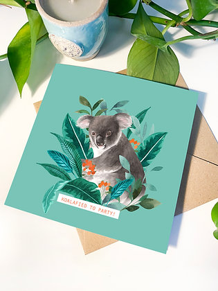 'Koalafied to Party!' Greeting Card