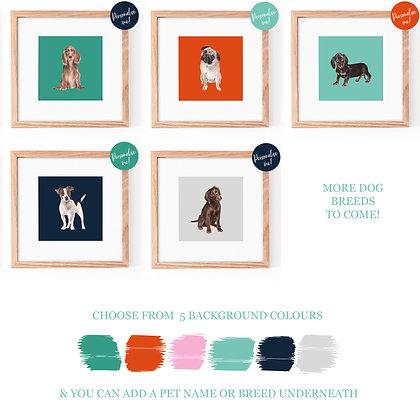 Dog Breed Fine Art Print
