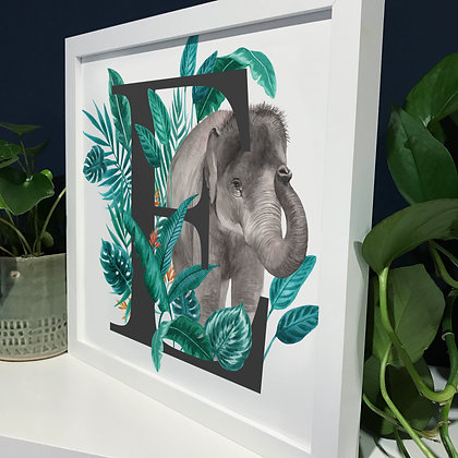 E for Elephant Fine Art Print