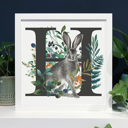 H for Hare Fine Art Print