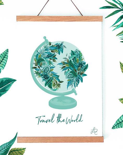 Tropical Globe Fine Art Print