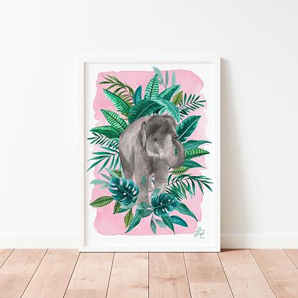 Tropical Elephant Fine Art Print