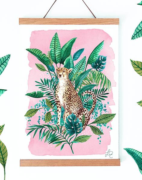 Tropical Cheetah Fine Art Print