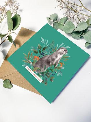 'Otterly Wonderful!' Greeting Card