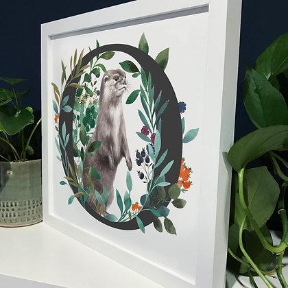 O for Otter Fine Art Print