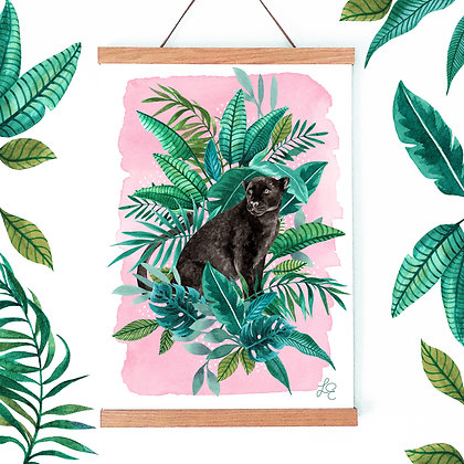 Tropical Panther Fine Art Print
