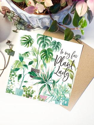 Fav Plant Lady Greeting Card