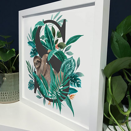S for Sloth Fine Art Print