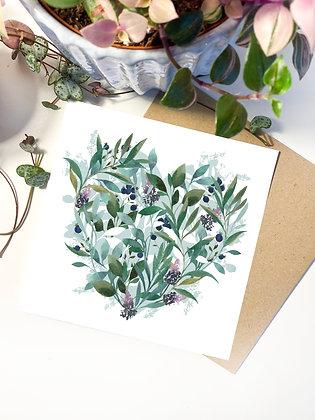 Botanical Heart Greeting Card
