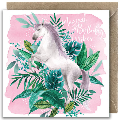 Tropical Unicorn Greeting Card