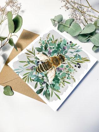 Botanical Bee Greeting Card