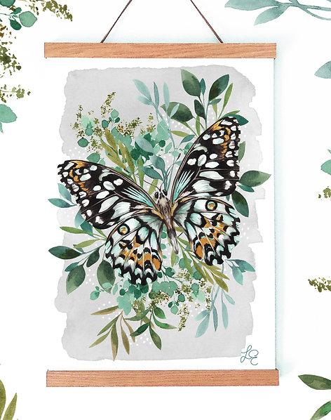 Botanical Butterfly Fine Art Print