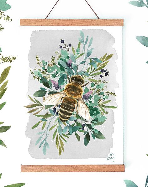 Botanical Bee Fine Art Print